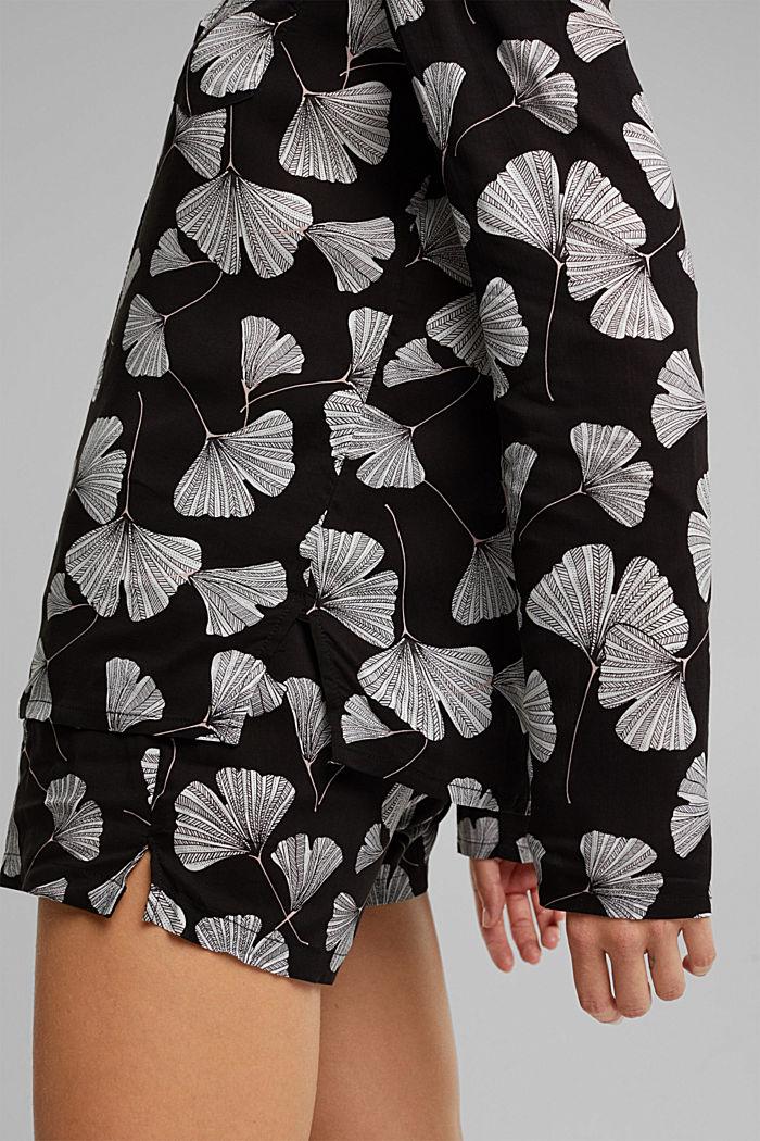 LENZING™ ECOVERO™ pyjamas, BLACK, detail image number 5