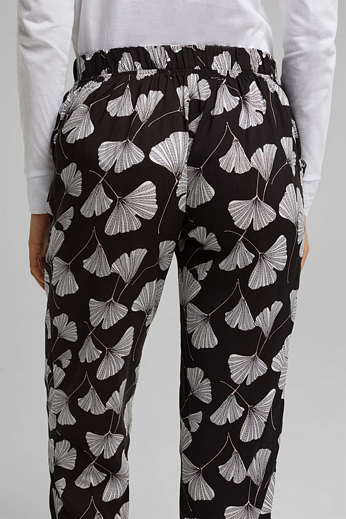 Pyjama Pants aus LENZING™ ECOVERO™, BLACK, detail image number 4