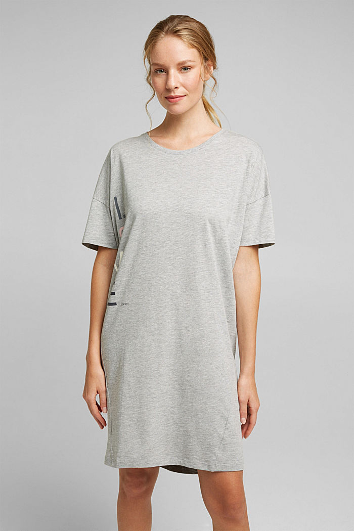 Jersey nightshirt with organic cotton, LIGHT GREY, detail image number 1