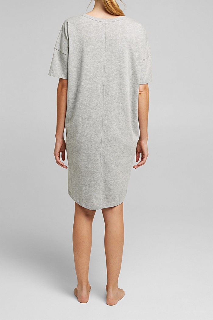 Jersey nightshirt with organic cotton, LIGHT GREY, detail image number 2