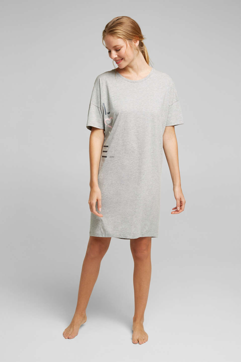 Esprit - Jersey nightshirt with organic cotton