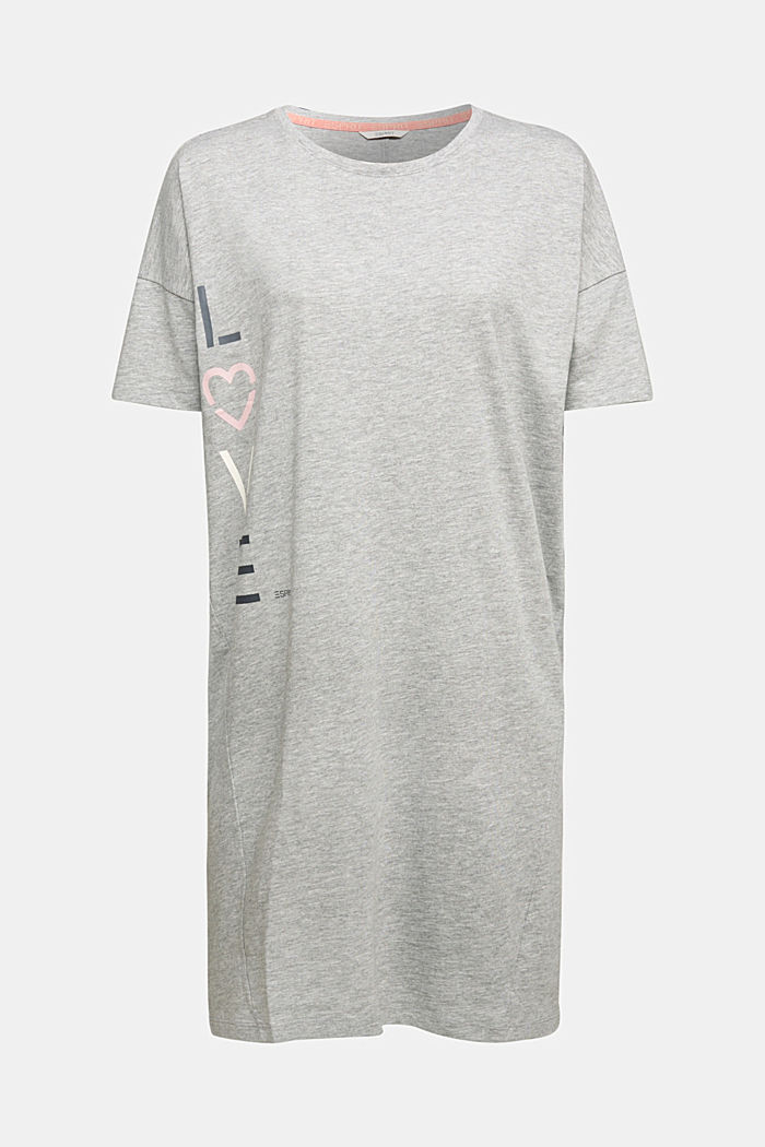 Jersey nightshirt with organic cotton, LIGHT GREY, detail image number 5