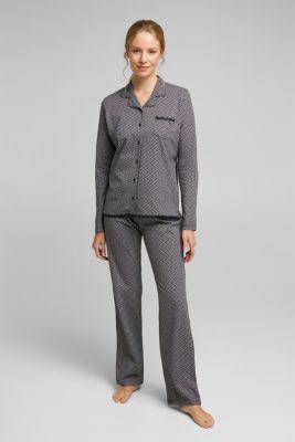 Jersey pyjamas made of 100% organic cotton, BLACK, detail