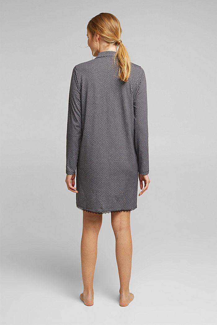 Nightshirt made of 100% organic cotton, BLACK, detail image number 2