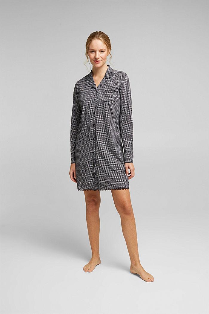 Nightshirt made of 100% organic cotton, BLACK, detail image number 0