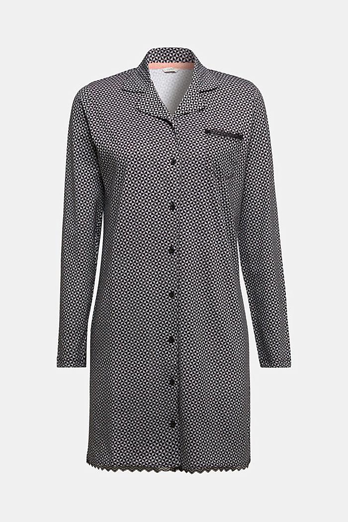 Nightshirt made of 100% organic cotton, BLACK, detail image number 5
