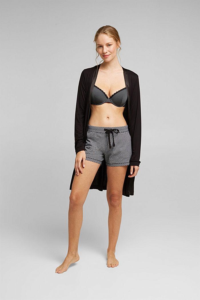 Nightwear shorts made of 100% cotton, BLACK, detail image number 5