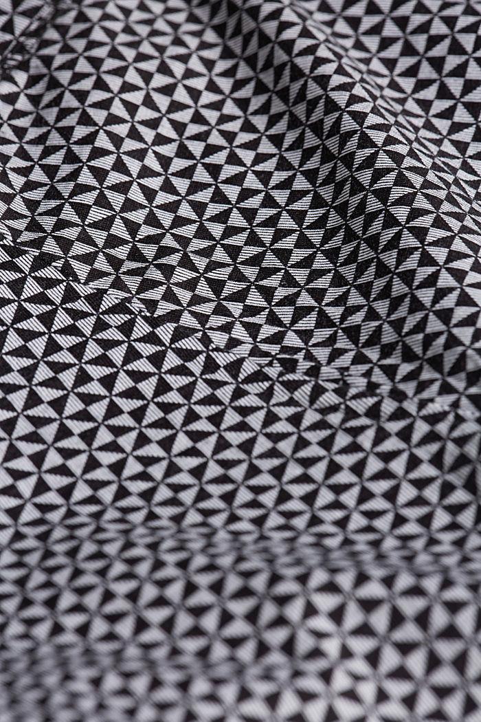 Nightwear shorts made of 100% cotton, BLACK, detail image number 4