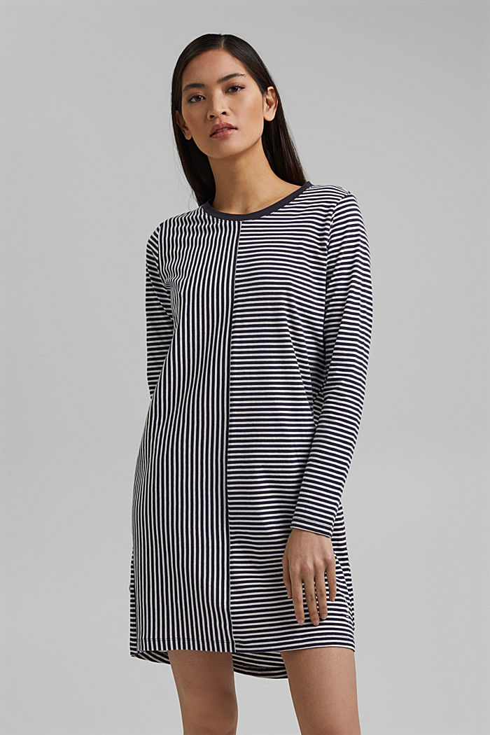 Nightshirt with stripes, organic cotton
