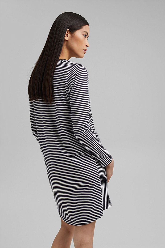 Nightshirt with stripes, organic cotton, NAVY, detail image number 2