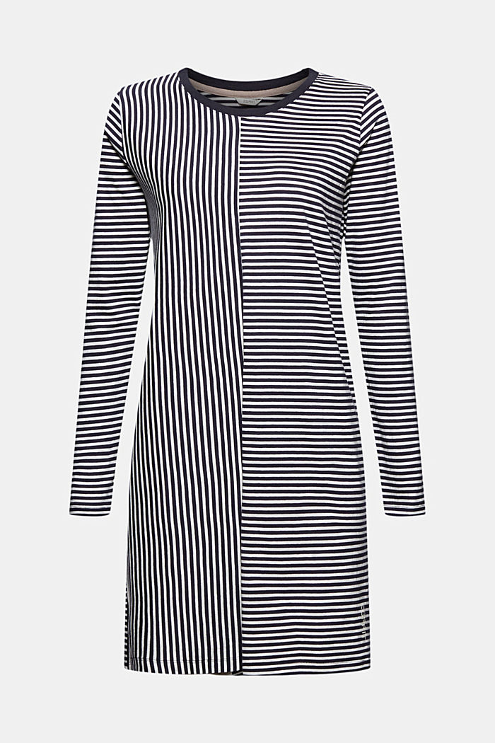 Nightshirt with stripes, organic cotton, NAVY, detail image number 5