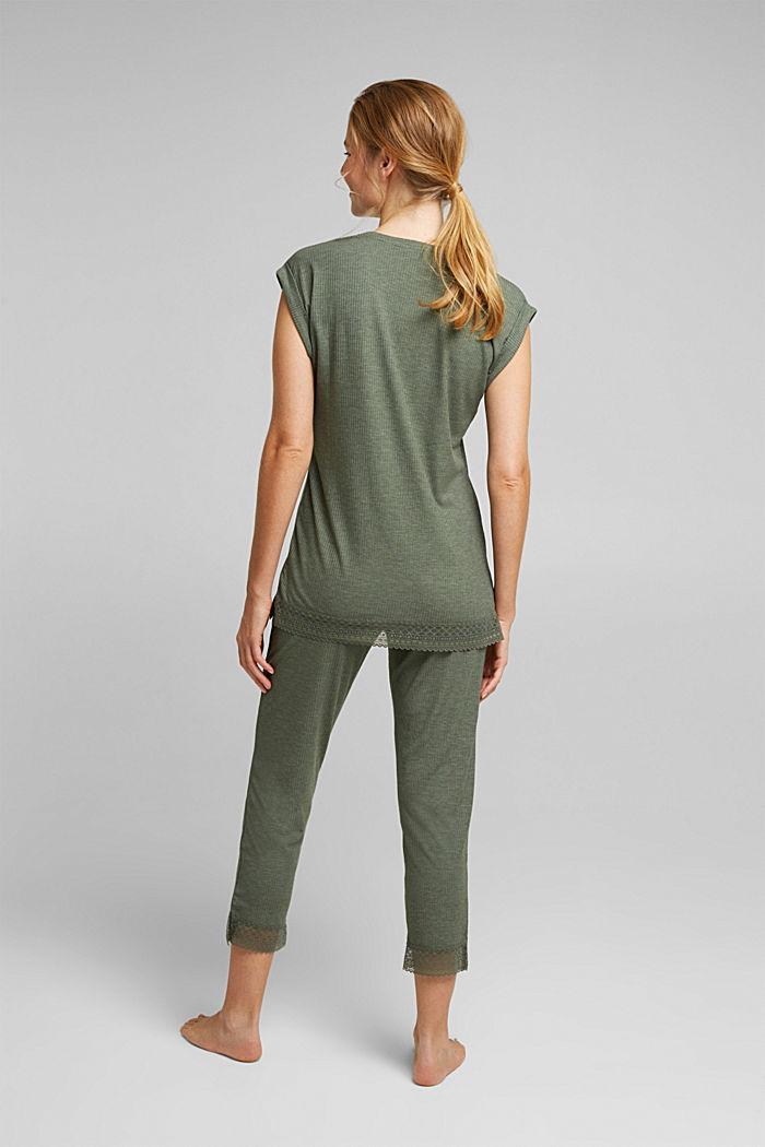 Pijama de jersey con LENZING™ ECOVERO™, LIGHT KHAKI, detail image number 2