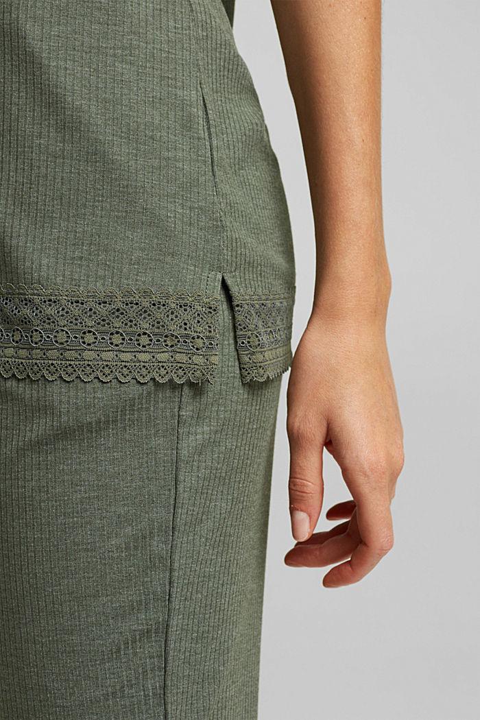 Pijama de jersey con LENZING™ ECOVERO™, LIGHT KHAKI, detail image number 5