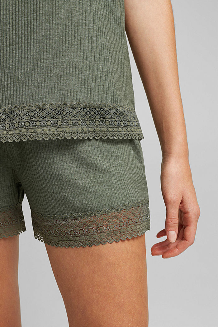 Jersey pyjamas with LENZING™ ECOVERO™, LIGHT KHAKI, detail image number 5