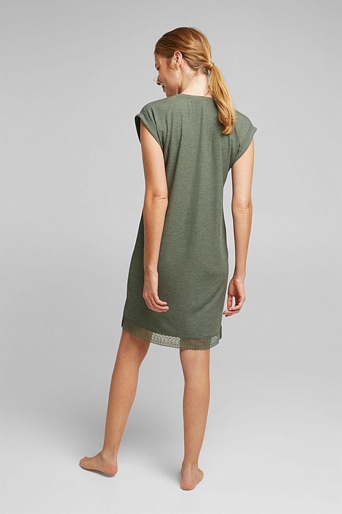 Jersey nightshirt with LENZING™ ECOVERO™, LIGHT KHAKI, detail image number 2