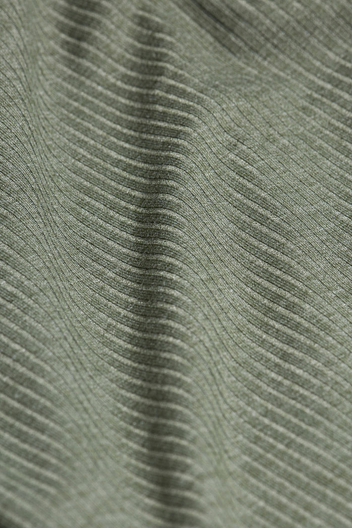 Jersey nightshirt with LENZING™ ECOVERO™, LIGHT KHAKI, detail image number 4