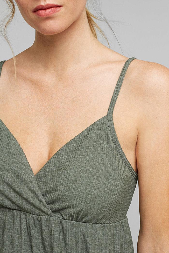 Jersey chemise with LENZING™ ECOVERO™, LIGHT KHAKI, detail image number 3
