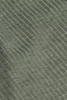 Jersey chemise with LENZING™ ECOVERO™, LIGHT KHAKI, detail