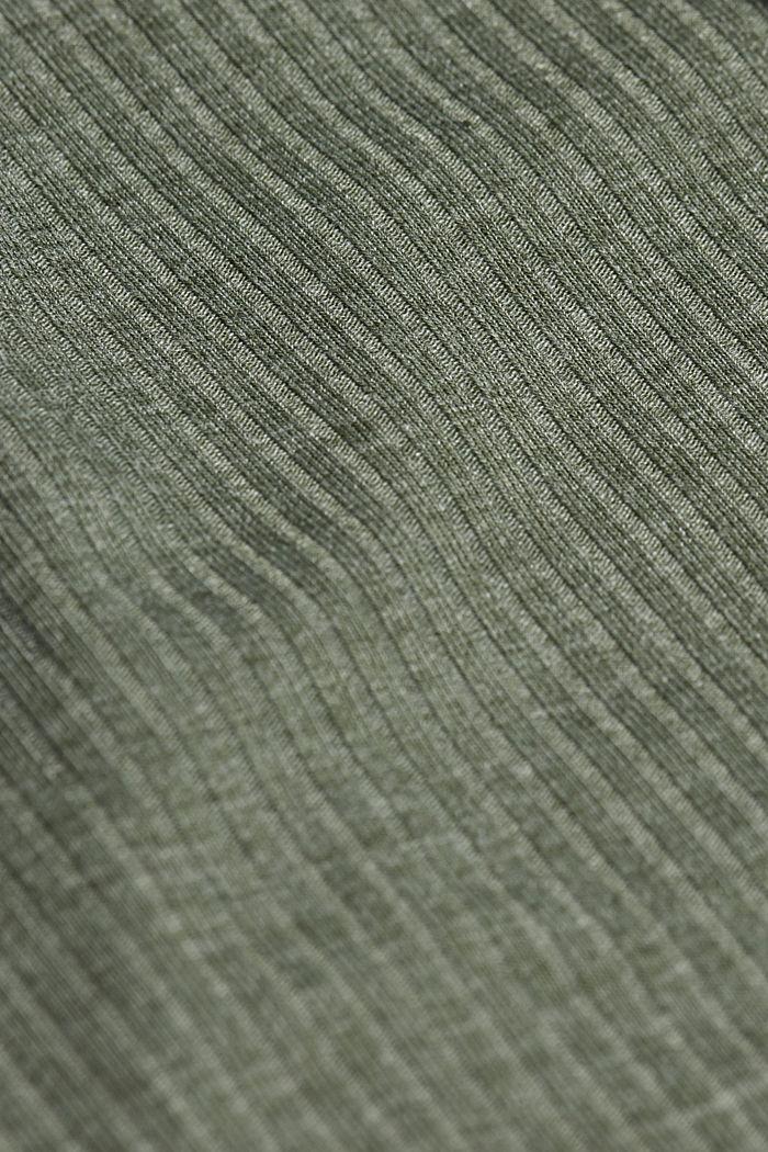 Jersey chemise with LENZING™ ECOVERO™, LIGHT KHAKI, detail image number 4