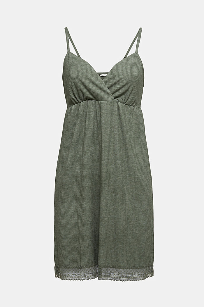Jersey chemise with LENZING™ ECOVERO™, LIGHT KHAKI, detail image number 6