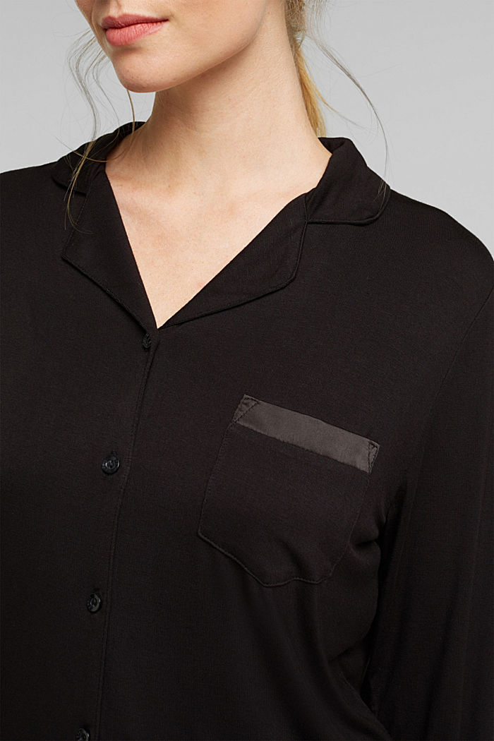 Jersey-Pyjama aus LENZING™ ECOVERO™, BLACK, detail image number 3