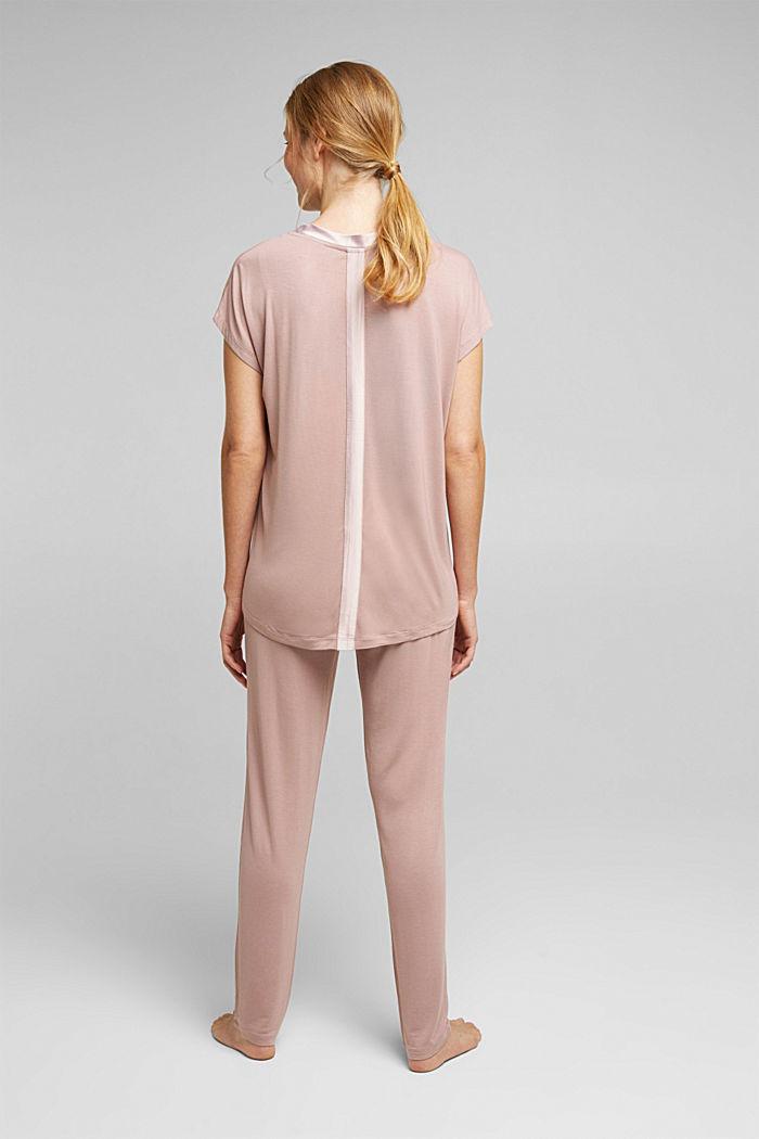 Jersey pyjamas in LENZING™ ECOVERO™, OLD PINK, detail image number 2