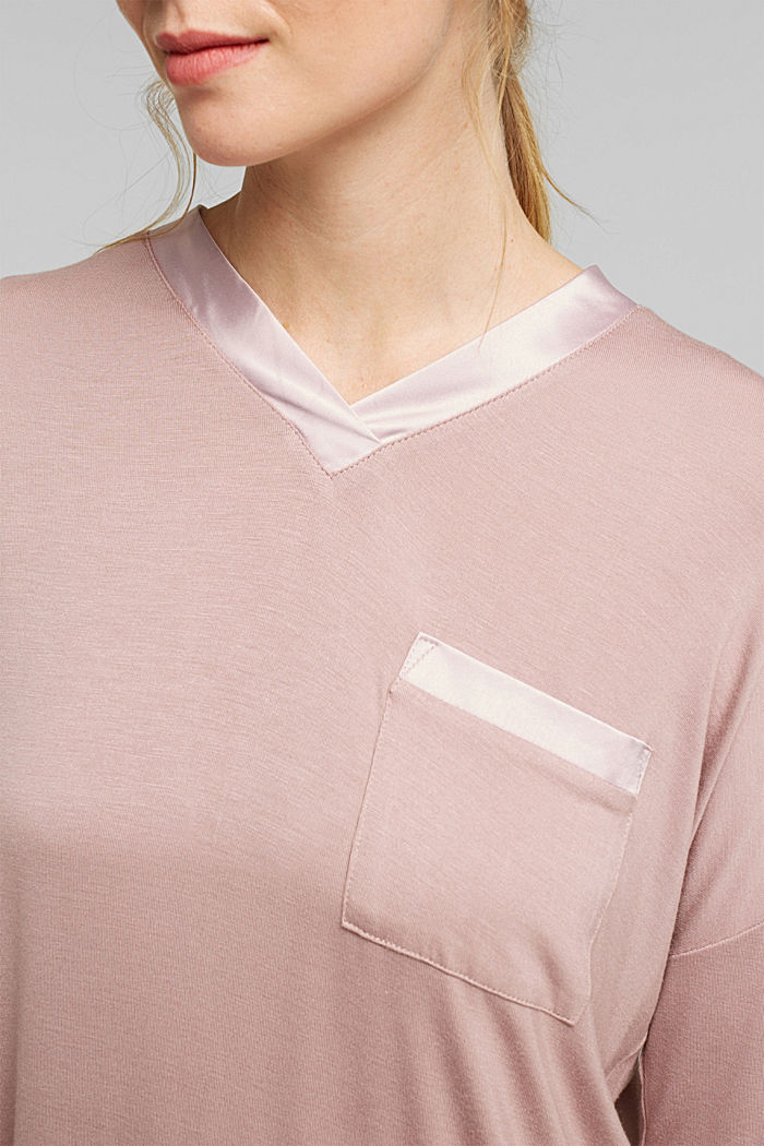 Nightshirt made of LENZING™ ECOVERO™, OLD PINK, detail image number 3