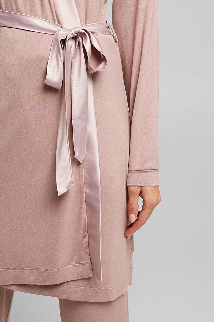 Jersey-Kimono aus LENZING™ ECOVERO™, OLD PINK, detail image number 3