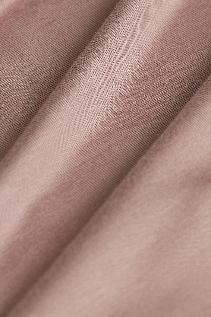 Jersey kimono van LENZING™ ECOVERO™, OLD PINK, detail image number 4