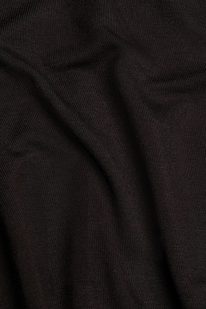 Nightshirt made of LENZING™ ECOVERO™, BLACK, detail image number 4