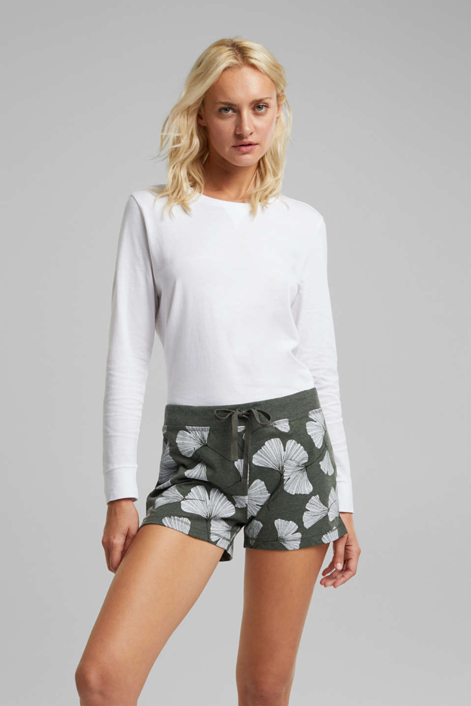 Esprit - Nacht-Shorts mit Organic Cotton