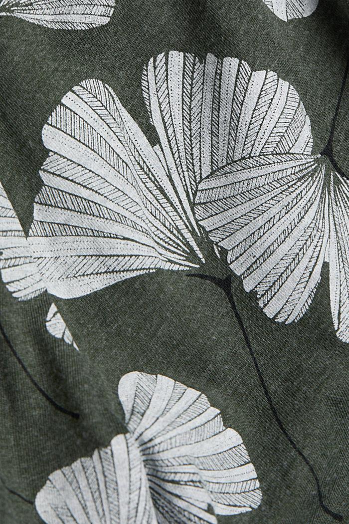 Short de nuit à teneur en coton biologique, LIGHT KHAKI, detail image number 4