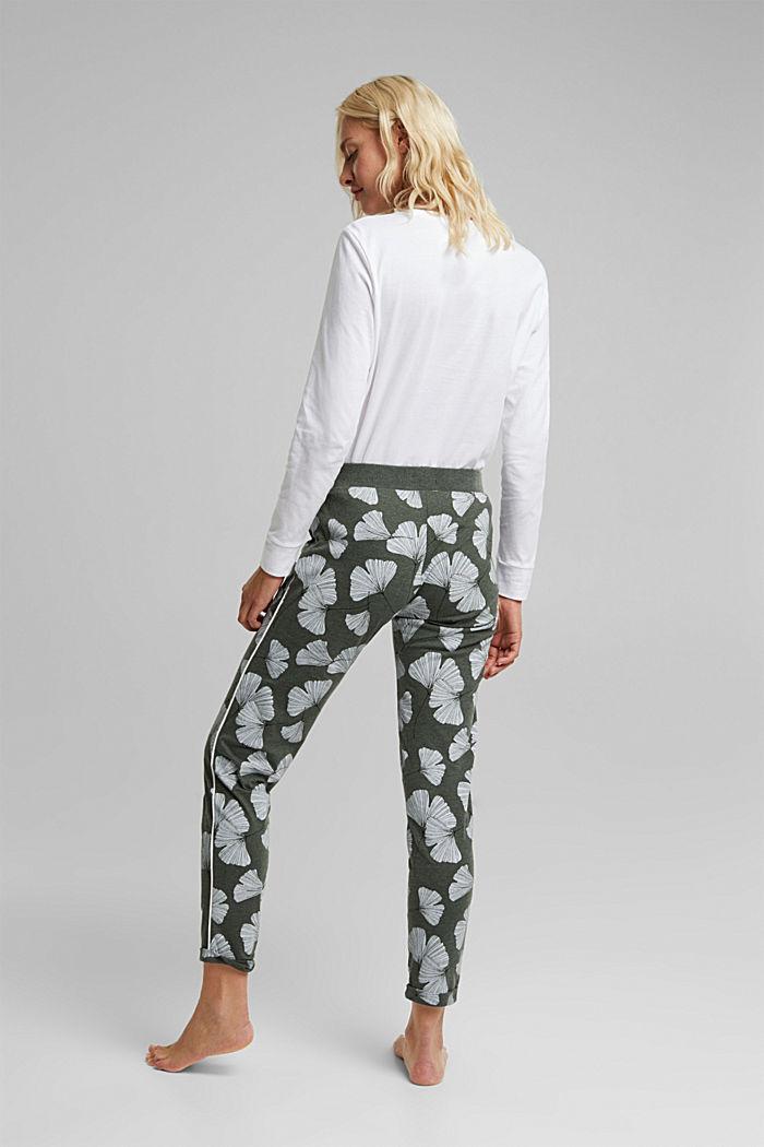 Pyjamas trousers with organic cotton, LIGHT KHAKI, detail image number 3