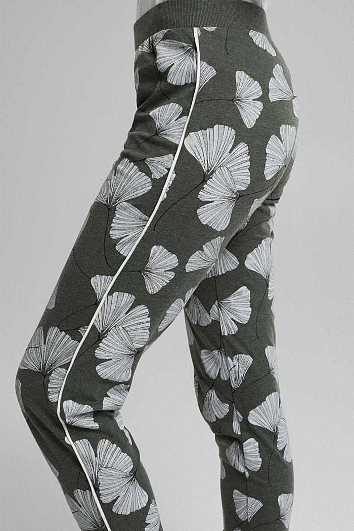 Pyjamas trousers with organic cotton, LIGHT KHAKI, detail image number 2