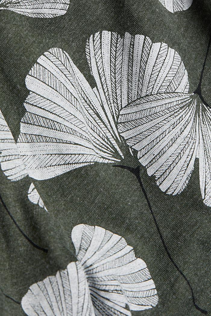 Pyjamas trousers with organic cotton, LIGHT KHAKI, detail image number 4