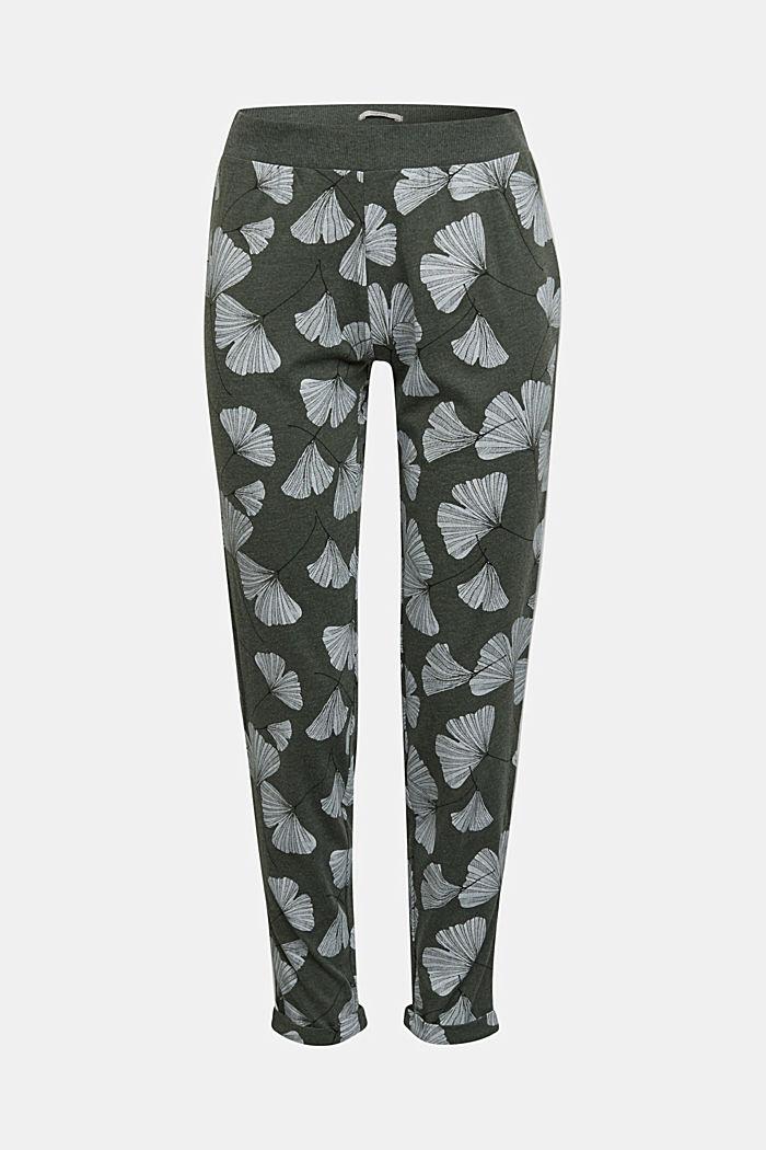 Pyjamas trousers with organic cotton, LIGHT KHAKI, detail image number 5