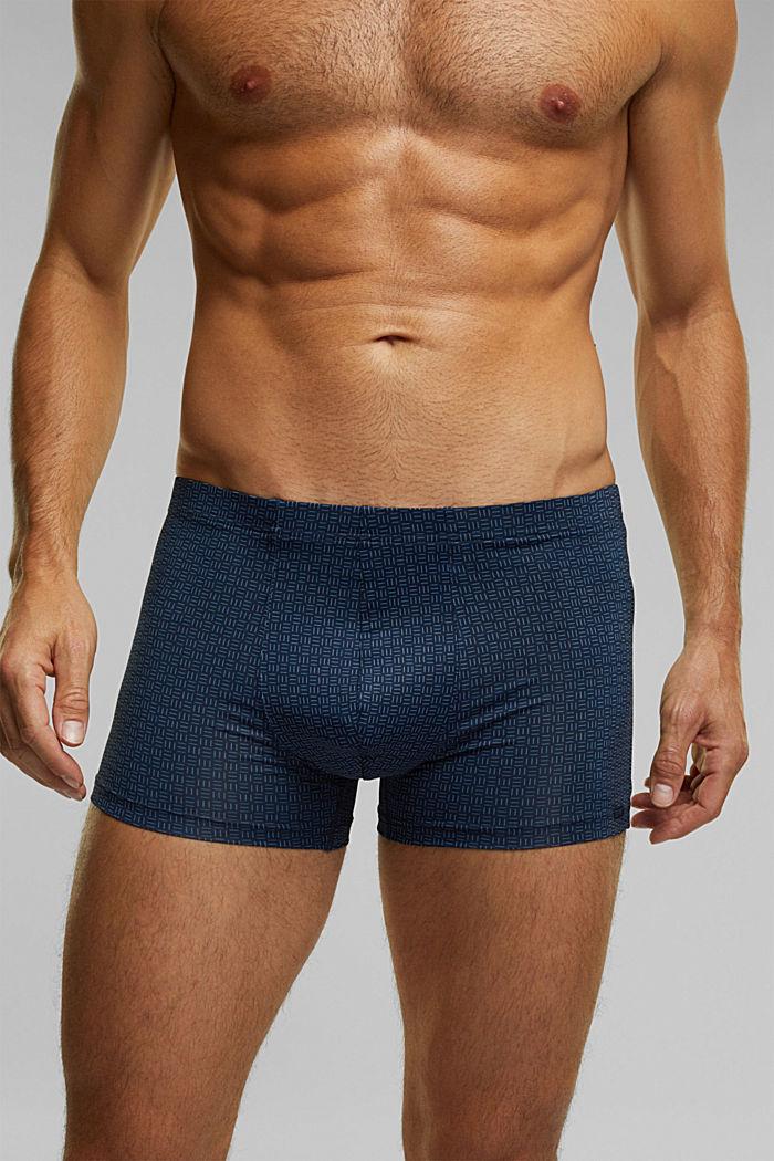 Gerecycled: set van 3 shorts van microvezels, NAVY, detail image number 2