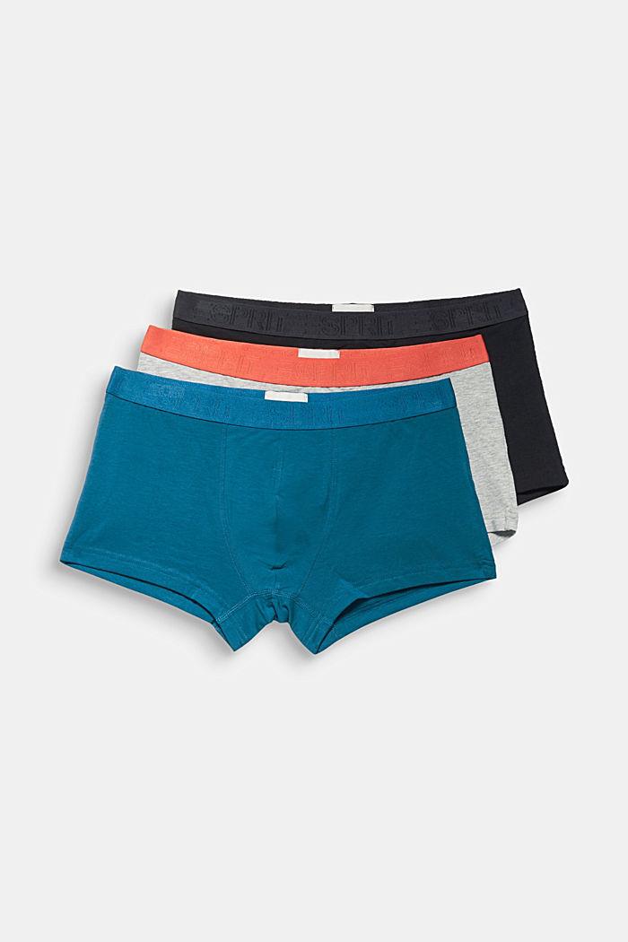 3-er-Pack Shorts mit Bio-Baumwolle
