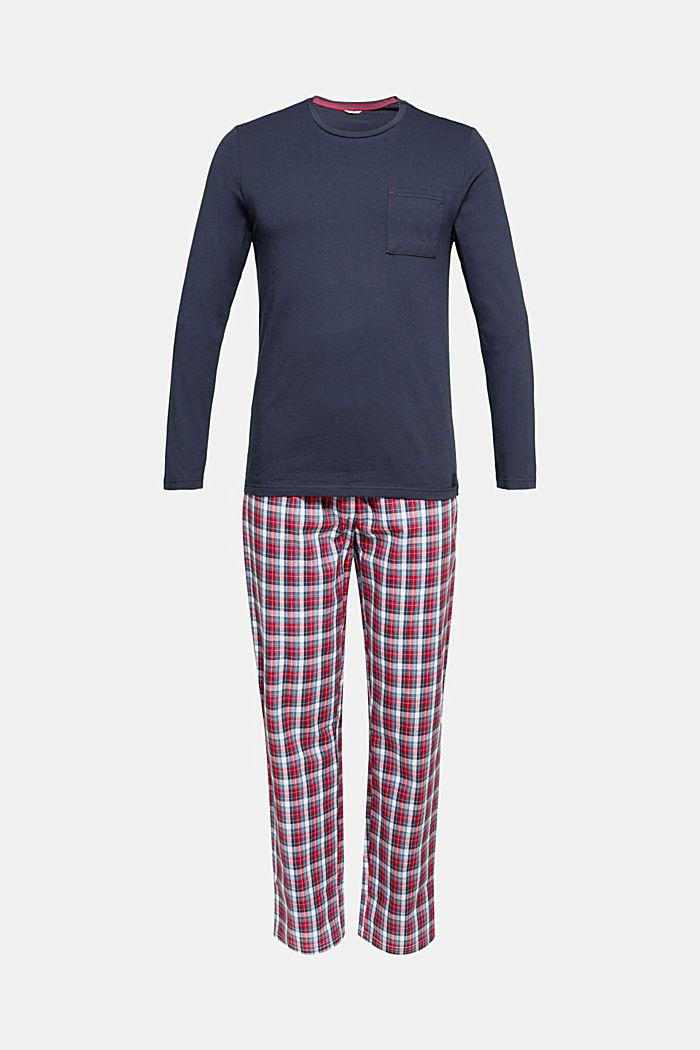 Jersey/fabric pyjamas, organic cotton, NAVY, detail image number 4