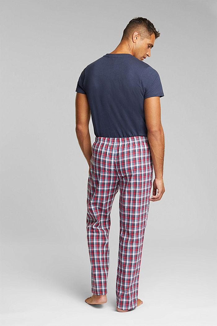 Karierte Pyjama-Hose aus 100% Bio-Baumwolle, NAVY, detail image number 2