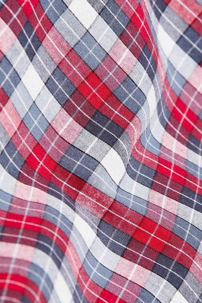 Karierte Pyjama-Hose aus 100% Bio-Baumwolle, NAVY, detail image number 5