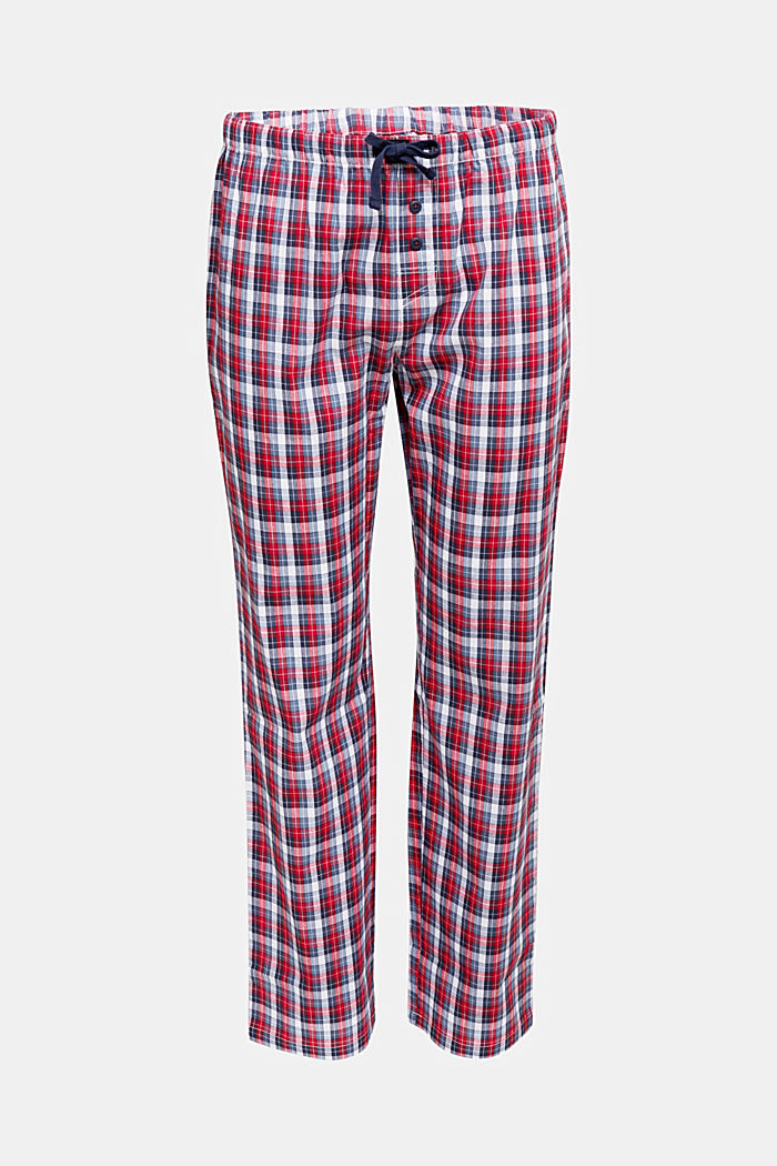 Check pyjamas trousers made of 100% organic cotton, NAVY, detail image number 4