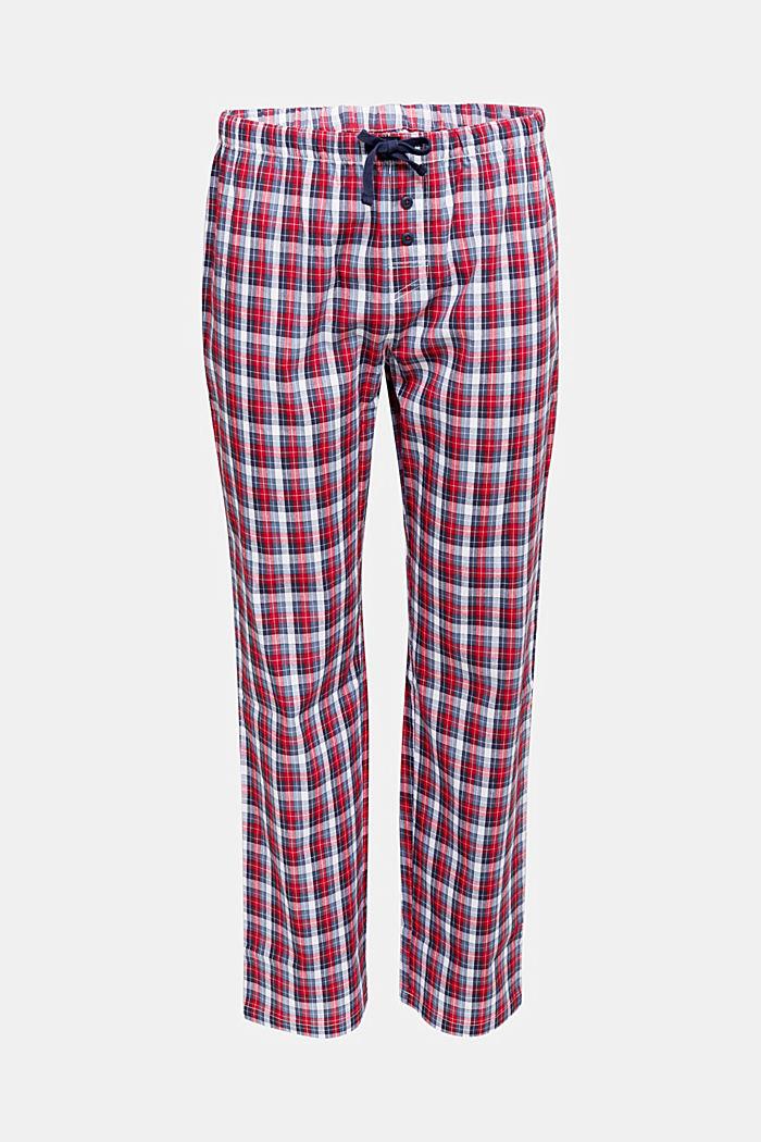 Karierte Pyjama-Hose aus 100% Bio-Baumwolle, NAVY, detail image number 4
