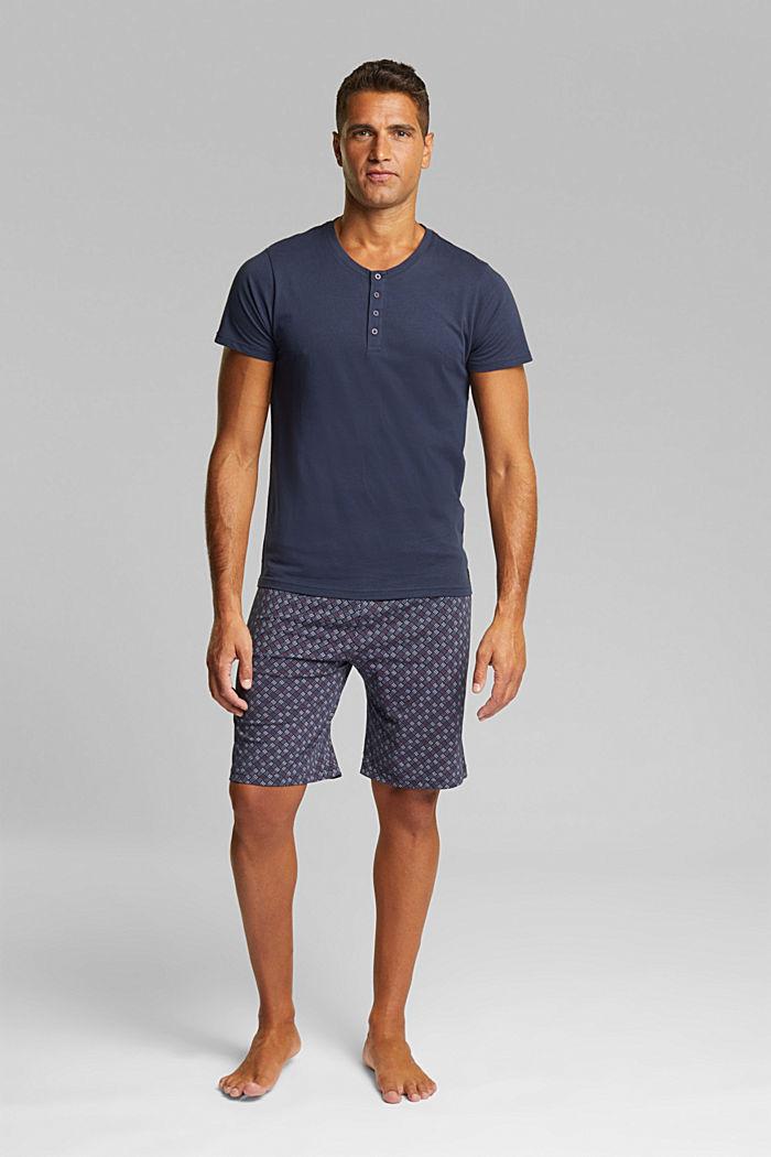 Jersey pyjamas in 100% organic cotton, NAVY, detail image number 1