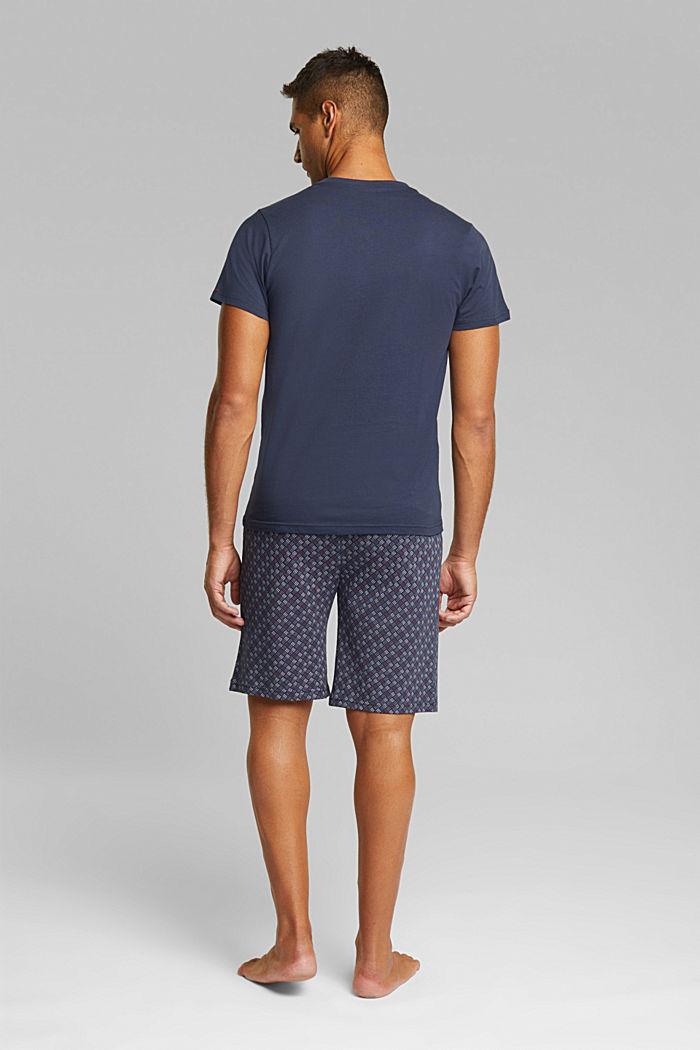 Jersey pyjamas in 100% organic cotton, NAVY, detail image number 2