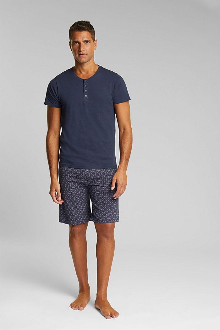 Jersey pyjamas in 100% organic cotton, NAVY, detail image number 0