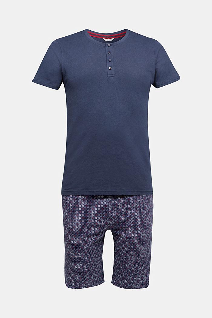 Jersey pyjamas in 100% organic cotton, NAVY, detail image number 4