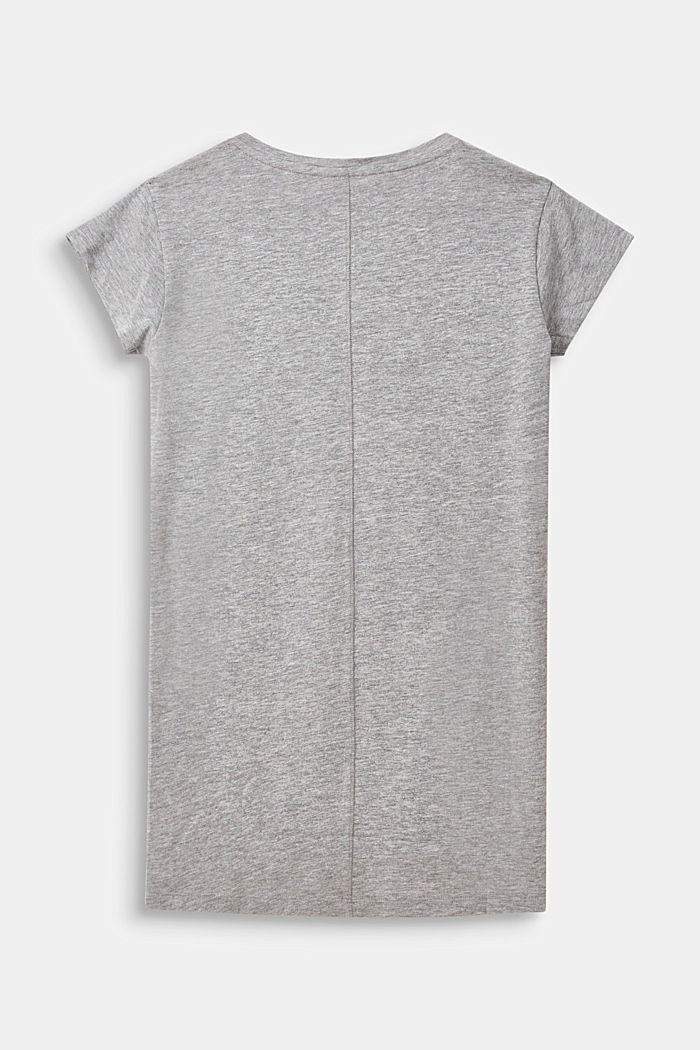 Jersey nightshirt with a printed statement