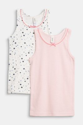 Double pack of tops with a print, OFF WHITE, detail