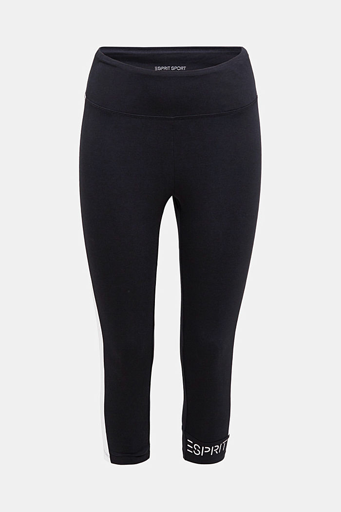 Leggings with stripes and organic cotton, BLACK, detail image number 5